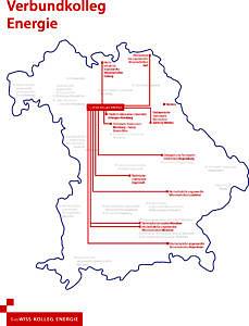 Bayernkarte, auf der die elf teilnehmenden Hochschulen rot markiert sind